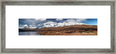Framed Print featuring the photograph Torridon Panorama by Grant Glendinning