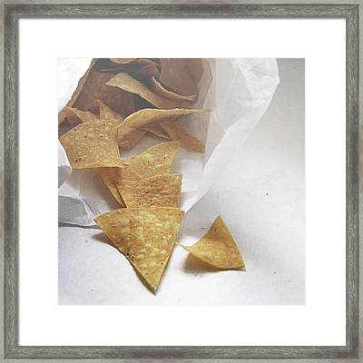 Tortilla Chips- Photo By Linda Woods Framed Print by Linda Woods