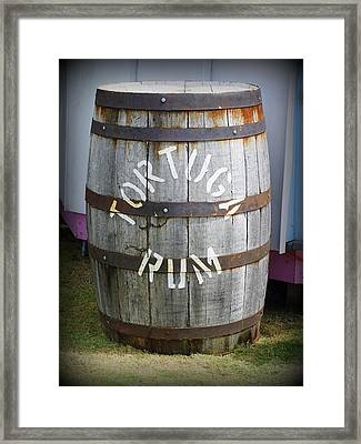 Tortuga Rum Framed Print by Laurie Perry
