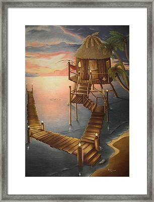 Tortugan Riviera Framed Print by Amanda Clark