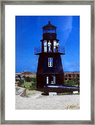 Framed Print featuring the photograph Tortugas Light by Frederic Kohli