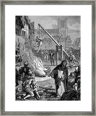 Torture Of Huguenots In France Framed Print by Everett