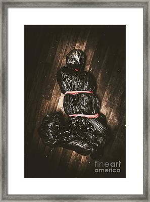 Torture Victim Tied And Bound Framed Print