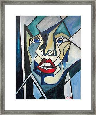 Framed Print featuring the painting Tortured by Patricia Arroyo