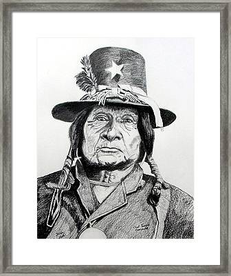 Tosawi Comanche Chief Framed Print by Stan Hamilton