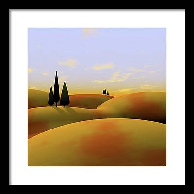 Hills Framed Prints
