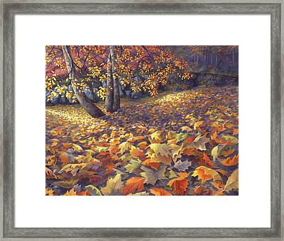 Toscas Trail Framed Print by Lucy West