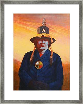 Tosh-a-wah,peneteka Comanche Chief Framed Print by J W Kelly