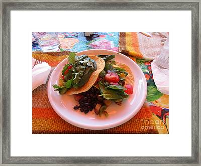 Framed Print featuring the photograph Tostada Times Two by Marie Neder