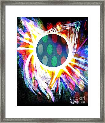 Total Eclipse Digital Framed Print