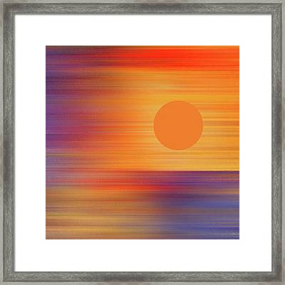 Total Eclipse Of The Heart Abstract Eclipse 2017 Framed Print