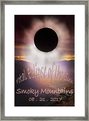 Total Eclipse Of The Sun Smoky Mountains Framed Print