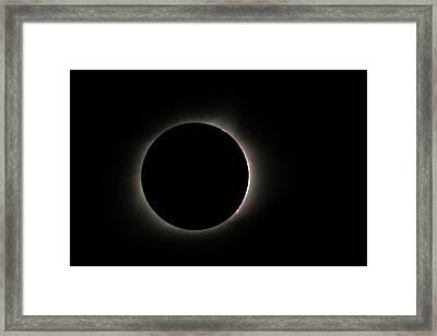 Total Eclipse Solar Flares Framed Print