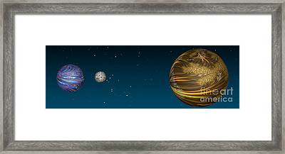 Total Eclipse Framed Print by Steve Purnell