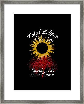 Total Eclipse T-shirt Art Murphy Nc Framed Print by Debra and Dave Vanderlaan