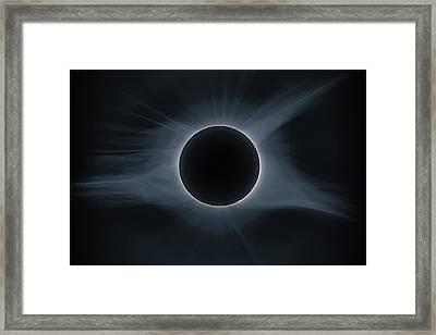 Total Solar Eclipse Corona Framed Print