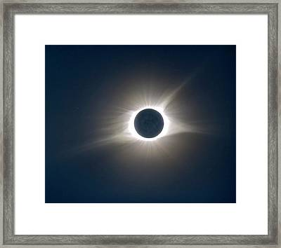 Total Solar Eclipse Hdr Framed Print by Jonathan Sabin