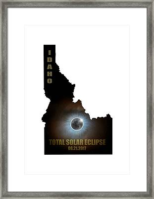 Total Solar Eclipse In Idaho Map Outline Framed Print by David Gn