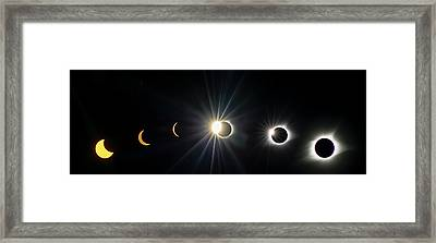 Total Solar Eclipse Sequence Framed Print