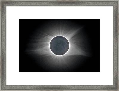 Framed Print featuring the photograph Total Solar Eclipse With Corona by Lori Coleman