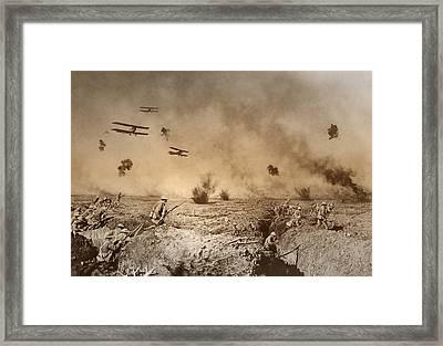 Total Trench Warfare World War One  1918 Framed Print by Daniel Hagerman