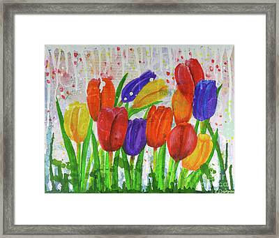 Totally Tulips Framed Print