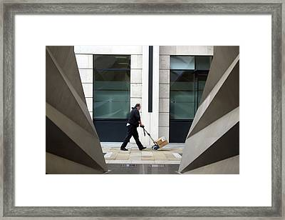 Framed Print featuring the photograph Tote That Bale by Jez C Self