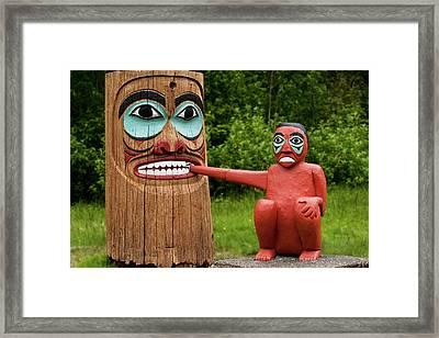 Totem Bite Framed Print