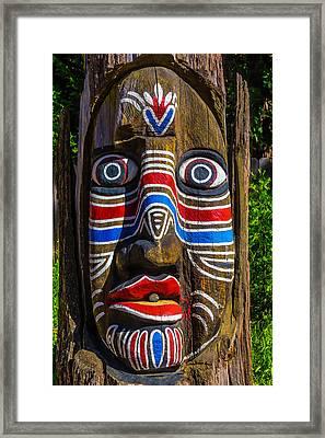 Totem Face Framed Print