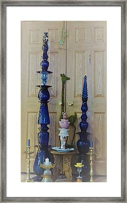Tower Glass And Brass Framed Print