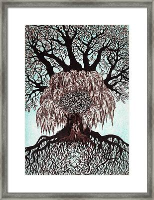 Totem Of The Family Trees Framed Print by Lesya Shevchishina