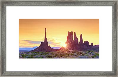 Totem Pole 3 Framed Print