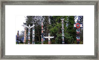 Totem Poles Framed Print by Will Borden