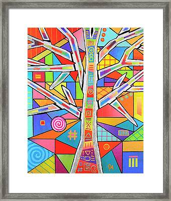 Totem Tree Framed Print