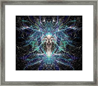 Totems Of The Vision Quests #1523 Framed Print by Rainbow Artist Orlando L aka Kevin Orlando Lau