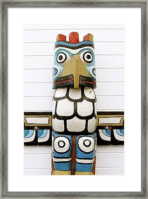 Totum Pole Framed Print
