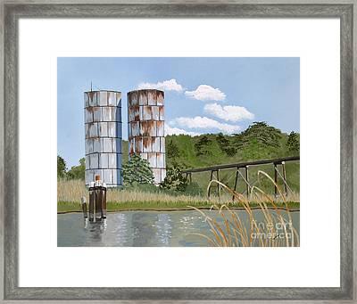 Totuskey Silos Framed Print by Jennifer  Donald