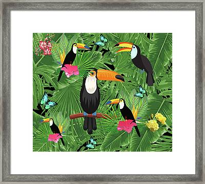 Toucan Tropic  Framed Print by Mark Ashkenazi