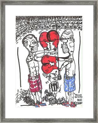 Touch Gloves Framed Print by Robert Wolverton Jr