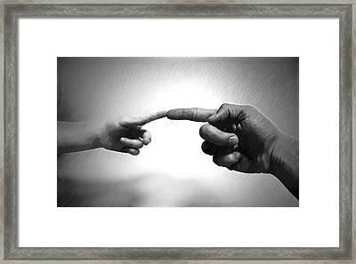 Touch - Id 16236-104946-1859 Framed Print by S Lurk