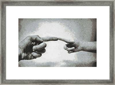 Touch - Id 16236-104954-8272 Framed Print by S Lurk