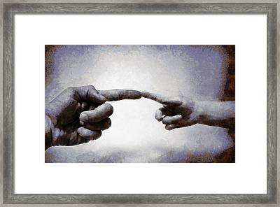 Touch - Id 16236-105010-8442 Framed Print by S Lurk