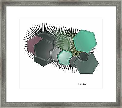 Touch Framed Print by Karen Diggs