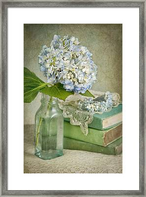 Touch Of Blue Framed Print by Cheryl Davis