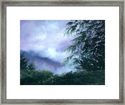 Touch Of Blue Framed Print by Sally Seago