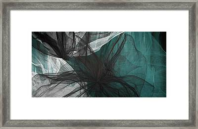 Touch Of Class - Black And Teal Art Framed Print by Lourry Legarde