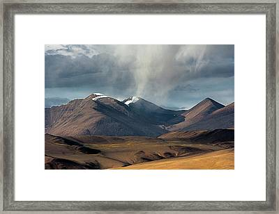 Touch Of Cloud Framed Print by Hitendra SINKAR