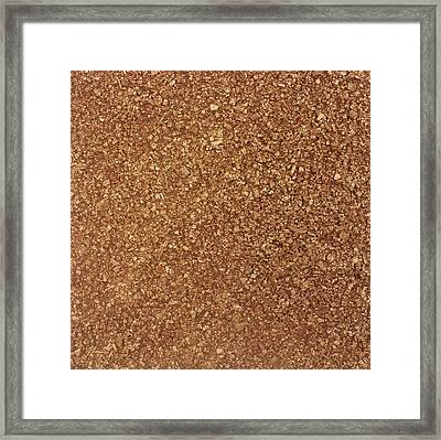 Touch Of Gold Framed Print