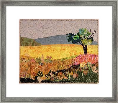 Touch Of Goldenrod Framed Print