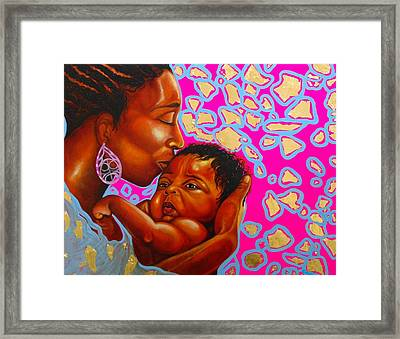 Touch Of Mother Love Framed Print